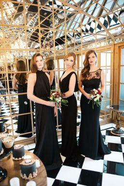 Black bridesmaids… why not?