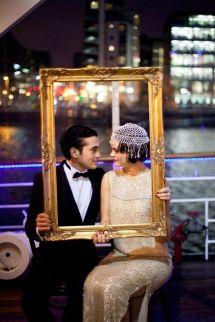Get a vintage frame for guest pictures